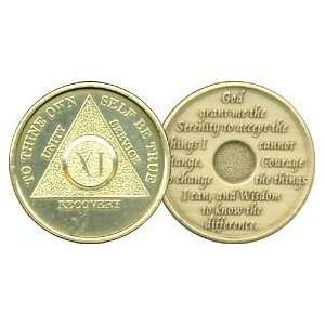 11 Year Bronze AA Birthday   Anniversary Recovery Medallion / Coin