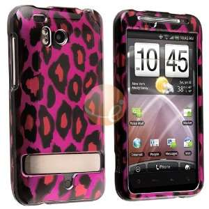 Snap on Case for HTC ThunderBolt 4G, Hot Pink Leopard Electronics