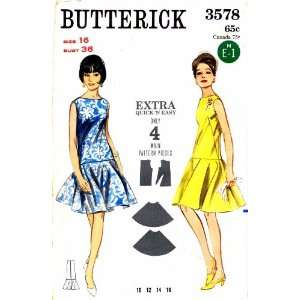 Long Waist Circular Skirt Dress Size 16 Bust 36: Arts, Crafts & Sewing