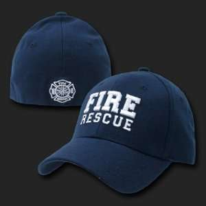 FIRE RESCUE FLEX FIT BASEBALL CAP HAT CAPS L/XL
