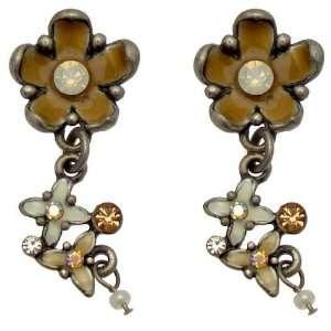 Acosta Jewellery   Opal Swarovski Crystal & Tan Enamel   Vintage Style