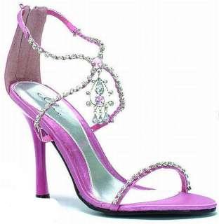 closed Heel criss cross Pink sandal rhinestone 457 MANDY/PNK
