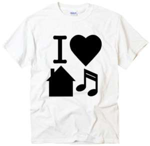 Love House Music design graphic cool t shirt