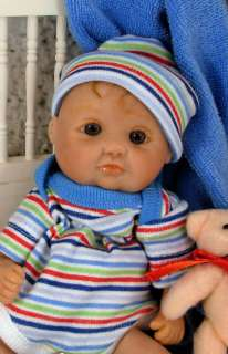 OOAK HAND SCULPT POLYMER CLAY BABY Boy   LOGLE   Mountainview Dolls