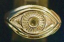 0417 Celtic Silver Protection Evil Eye Ring Gold Plated