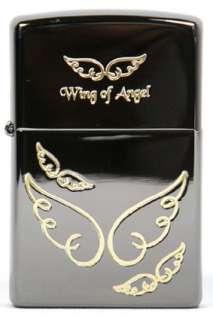 Zippo lighter Japanese Korean wing of angel black ice 150 engraved