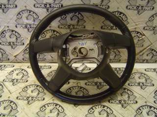 06 07 Dodge Charger SRT 8 OEM Steering Wheel Black Leather BENT