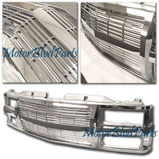 94 99 CHEVY SUBURBAN 1 PIECE CHROME GRILL GRILLE 95 98
