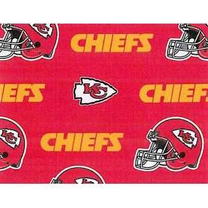 City Chiefs Football Print Cotton Fabric By the Yard