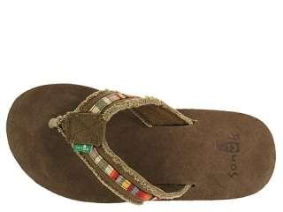 SANUK   Mens Fraid So Multi Flip Flops Sandals