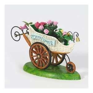 Department 56 Fresh Flower Cart Retired Village Accessories: