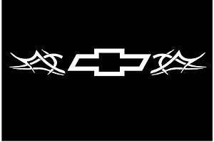 Custom Chevy Bow Tie Tribal Flames Decal Z 28 SS Z R1