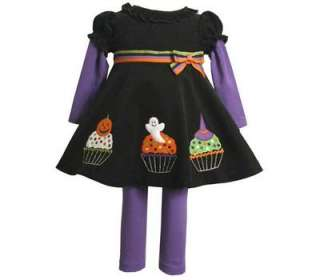 Jean Baby Girls Halloween Cupcake Dress Outfit w/ Legging 12M