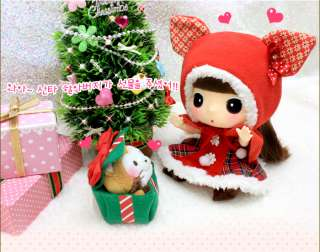 Lovely Cute Doll Figure DDUNG 18cm Red Hood Santa