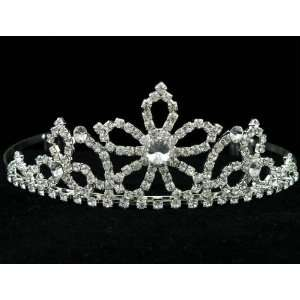 New Bridal Flower Girl Prom Party Crystal Tiara Comb 39