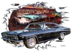 You are bidding on 1 1966 Black Chevy Impala SS Custom Hot Rod