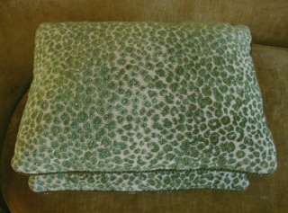 Tout Velvet Fabric Custom Designer Throw Pillows New 2 Green