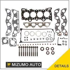 96 00 1.6L Honda Civic Del Sol SOHC Head Gasket Bolts Set D16Y5 D16Y7