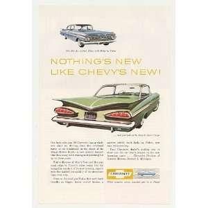 1959 Chevy Bel Air 4 Door Sedan Impala Sport Coupe Print