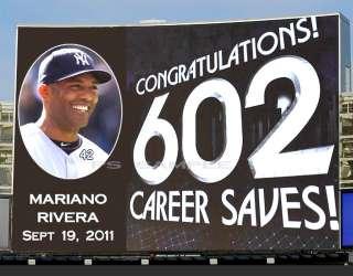 Yankees MARIANO RIVERA 602 SAVES   Fridge Magnet