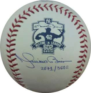 Mariano Rivera 602 All Time Saves Leader Auto Signed LE Baseball