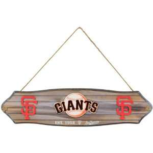 MLB San Francisco Giants Fence Wood Sign  Sports