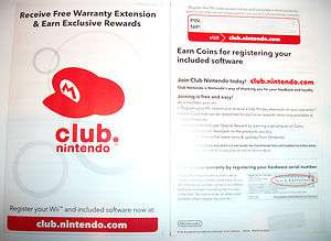 Club Nintendo 160 Coins Black Wii Super Mario Galaxy Pins Code