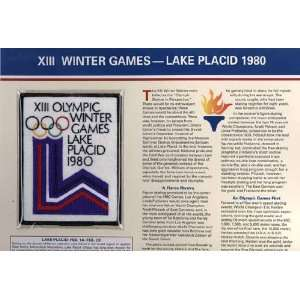 Olympic Winter Games Lake Placid 1980 Patch on Card Sports & Outdoors