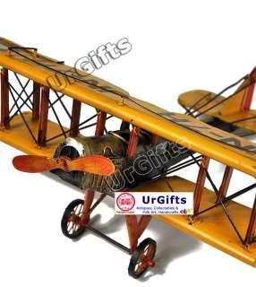 Hand Made Metal Art Bar Decor Model WWI Fighter Plane Curtiss Biplane