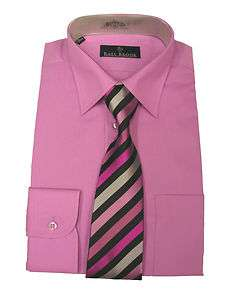 Mens Orchid Pink Rael Brook Shirt and Tie Set.