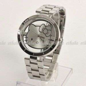 Hello Kitty Transparent Stainless Steel Wrist Watch