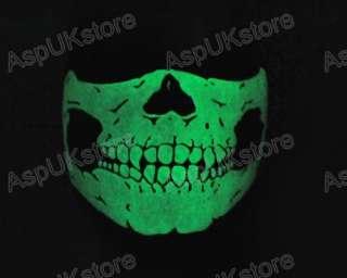 New Triangle Glow Skull Motorcycle Ski Half Face Mask OD