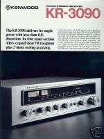 Kenwood KR 3090 Stereo Receiver Brochure 1977