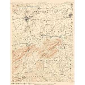 USGS TOPO MAP CARLISLE QUAD PENNSYLVANIA (PA) 1904