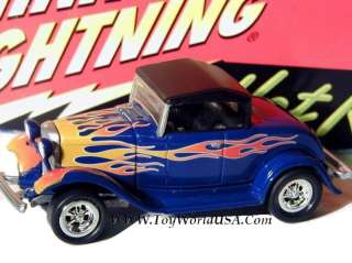 Johnny Lightning 32 Ford HiBoy Hot Rods 2 R1 blue/flamed