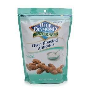 Blue Diamond Natural Oven Roasted Almonds, Bag, Sea Salt, 14 oz