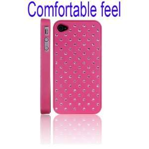 Feel Crystal Stars Hard Case for iPhone 4/4S(Pink)