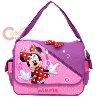 School Messenger Bag /Diaper Bag /Shoulder Bag Pink 3D Bows