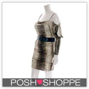 Womens Plus Size Clothing Dress Belted Snake Cold Shoulder Sexy US XL