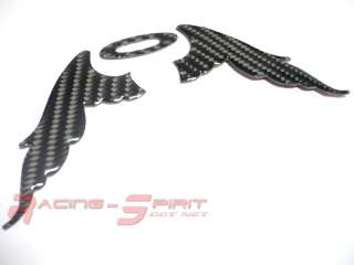 REAL CARBON FIBER WING ANGEL LOGO SET FOR REAR SCION EMBLEM XA XB TC