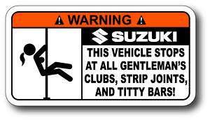 Strip Club Suzuki Sticker Decal King Quad 750 AXi 4x4