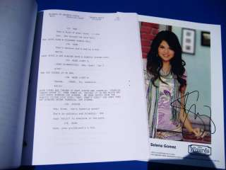 Wizards Of Waverly Place Selena Gomez SIGNED Script RPT