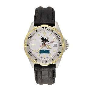 San Jose Sharks Mens NHL All Star Watch (Leather Band
