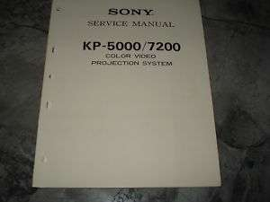 Sony KP 5000/7200 Original Service Manual