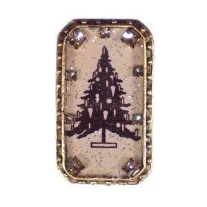 New MAXIMAL ART John Wind Alpine Christmas Tree Silhouette Crystal