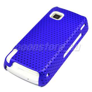 HARD RUBBER CASE COVER POUCH FOR NOKIA 5230 NURON BLUE
