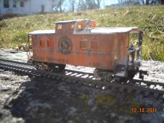 Custom weathered great northern caboose ho scale
