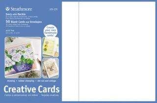 STRATHMORE 50 GREETING CARDS & ENVELOPES 5x7 WHITE