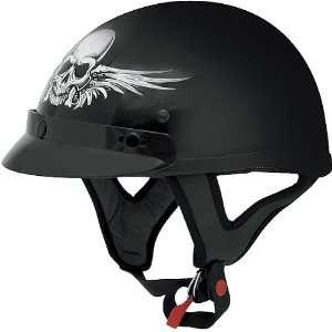 AFX Skull Adult FX 70 Harley Touring Motorcycle Helmet   Black / X