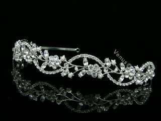 Bridal Wedding Veil Swarovski Crystal Pearl Tiara 6596
